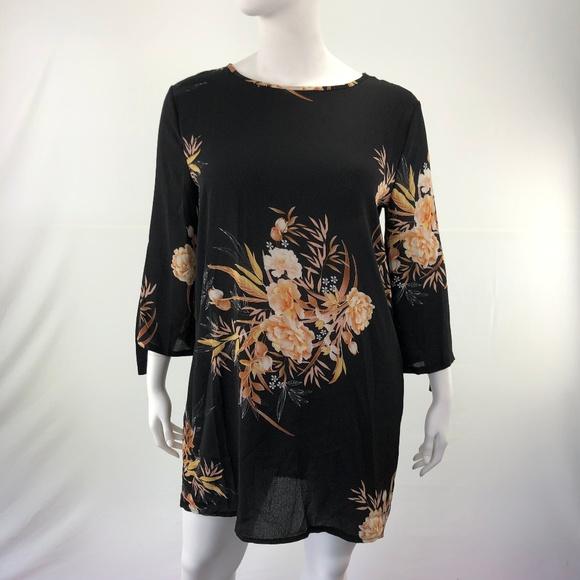 Dresses & Skirts - Mini Floral Casual Vintage Tie 3XL A-Line Dress